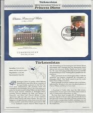 TURKMENISTAN PRINCESS DIANA MEMORIAL First Day Cover