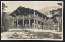 REAL PHOTO Postcard EMERALD LAKE BC/CANADA  Tourist Chalet Hotel view 1930's