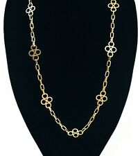Tory Burch Large Clover 16k Gold-Plated Necklace, NWT