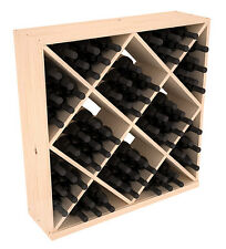 82 Bottle Diamond Cube Wine Cellar Rack Kit in Pine. Hand Crafted in the USA.