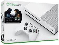 Microsoft Xbox One S Latest Model Halo Collection Bundle 500 GB White Console