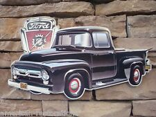 Ford Truck Advertisement Old Style Sign Garage Man Cave Gas Oil New F-100 Logo