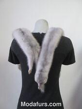 Women's 2 FULL Sapphire Mink Fur Pelts Stole Wrap Cape Scarf SUPERB