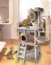 "HIDING Cat Tree™ 61"" Play House Condo Furniture Bed Tower Scratch Post Pole"