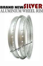 HODAKA COMBAT WOMBAT 125 MODEL #95 ALUMINIUM (SILVER) FRONT + REAR WHEEL RIM