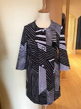 Betty Barclay Coat Size 16 BNWT Black And White Collarless RRP £140 NOW £63