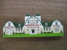 """1995 Shelia Wooden 3D Replica of Casey Barn in Gaithersburg, MD..9 1/4"""" long"""