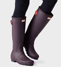 Hunter 'Original' Tall Adjustable Back Purple Urchin Matte Rain Boots Size 10 US
