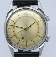 VINTAGE LeCoultre Memovox Mens 33mm Manual Alarm Wrist Watch Original Cond K814