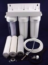 HOME 3 ST undersink CERAMICA l'acqua potabile FILTRO sytsem KIT RUBINETTO + ACCESSORI