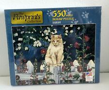 "Pawprints Collection Jigsaw Puzzle Sarah Kitty Cat 550 Pieces 18""x24"" USA NEW"