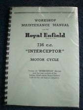 Royal Enfield Interceptor 736cc Workshop Manual 1962-67 Factory Copy REW18