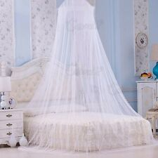 UK Mosquito Net Bed Canopy Netting Curtain Dome Fly Midges Insect Stopping White