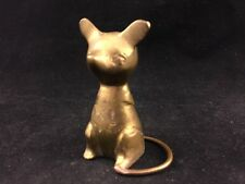 "VINTAGE 2.5"" BRASS MOUSE WITH CURVED TAIL-STATUE/FIGURINE/PAPERWEIGHT-NO ARMS"