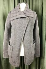 Kew Alpaca Wool Mohair Grey Collar Cardigan M/L