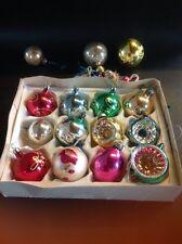 Vintage Christmas Baubles Decorations Concave Glass Painted 22 Retro