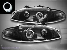 97-99 MITSUBISHI ECLIPSE PROJECTOR HEADLIGHTS ONE HALO BLACK 1997 1998 1999