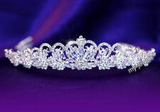 Bridal Wedding Headpiece Prom Heart Tiara use Swarovski Crystal T1057