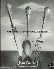 Publicité advertising 1981 Orfèvre les couverts Jean Couzon