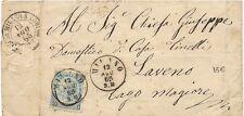 P5951   Milano, annullo cerchio piccolo + ambulante 1865