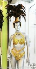Da NeeNa T025C Samba Vegas Brazil Leotard Headdress Costume Set XS-XL