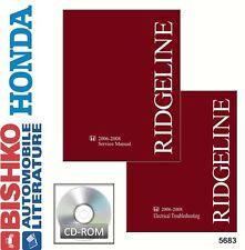 2006 2007 2008 Honda Ridgeline Shop Service Repair Manual CD