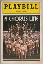 """""""A Chorus Line""""   Playbill   1990   Broadway   Laurie Gamach,  Robert LuPone"""