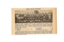 Peru & Shelbyville Indiana 1929 Football High School Team Picture