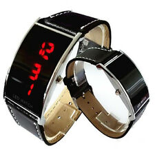 Retro Vintage Style RED Digital LED Watch Stainless Steel Case New FREE TRACKING