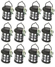 12 x Garden Solar Power Hanging Light LED Outdoor Lighting Black Tree Ornament