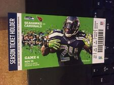 2015 SEATTLE SEAHAWKS VS ARIZONA CARDINALS TICKET STUB 11/15 NFL MARSHAWN LYNCH