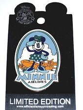LE Disney Auctions Pin✿Minnie Mouse Airlines Pilot Retro Amelia EARheart Vintage