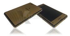 Fibra de carbono de la piel para Sony Xperia Z1 & Z1 Compact calcomanía Wrap Funda