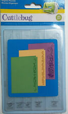 Organic Flourish Borders  5 Pcs  Cuttlebug Embossing Folders  NIP