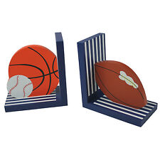 Sport Theme Wooden Bookends for Kids Toddler Bedroom Nursery Decoration Boy/Girl