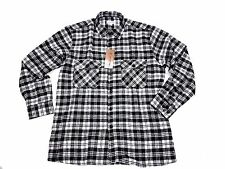 Mens Long Sleeved Flannel Checked Lumberjack Warm Casual Work Outdoor Shirt Size