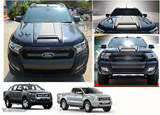 Matte Black Hood Scoop Bonnet Raptor Cover Fit Ford Ranger Mk2 Px2 2015 2016 17
