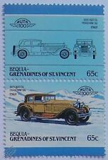 1929 ISOTTA FRASCHINI 8A (Italy) Car Stamps (Leaders of the World / Auto 100)