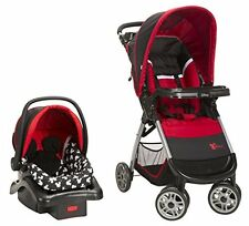 Disney Amble Quad TRAVEL SYSTEM, QuickClick INFANT CAR SEAT, Mickey Silhouette