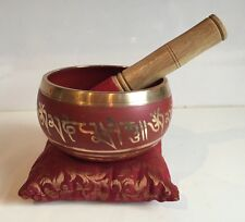 Large Tibetan Singing Bowl 5'' With Silk Cushion  Buddhism/ Meditation Gong