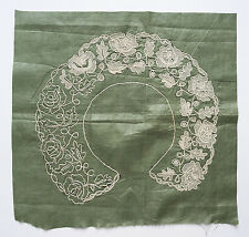 Antique part made needle lace collar pattern