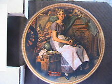 DREAMING IN ATTIC-NORMAN ROCKWELL LTD ED 1981 1ST ISSUE collector plate #15805W