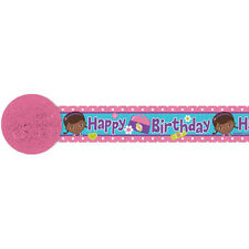 30ft Disney Doc McStuffins Birthday Party Crepe Paper Streamer Decoration