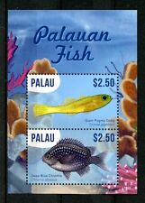 Palau 2016 MNH Endemic Fish of Palau 2v S/S Goby Chromis Marine Fishes Stamps