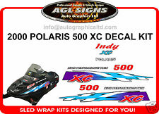 2000 POLARIS INDY 500 XC HOOD DECALS reproduction graphics