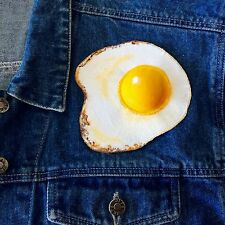Fried Egg Patch - Large Iron On Patch