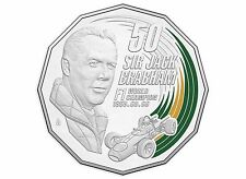 2017 Australian Motor Racing - Sir Jack Brabham Coloured 50c Coin