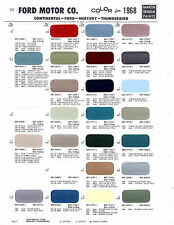 1968 FORD MUSTANG TORINO GALAXIE MERCURY COUGAR CYCLONE LINCOLN PAINT CHIPS MS 3