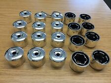 20x VW Alloy Wheel Nut Caps Bolt Covers with Removal Tools 17mm CHROME SILVER