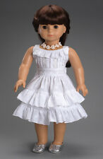 """Doll Clothes AG 18"""" Dress Fleur Blanc by Carpatina Made For American Girl Dolls"""
